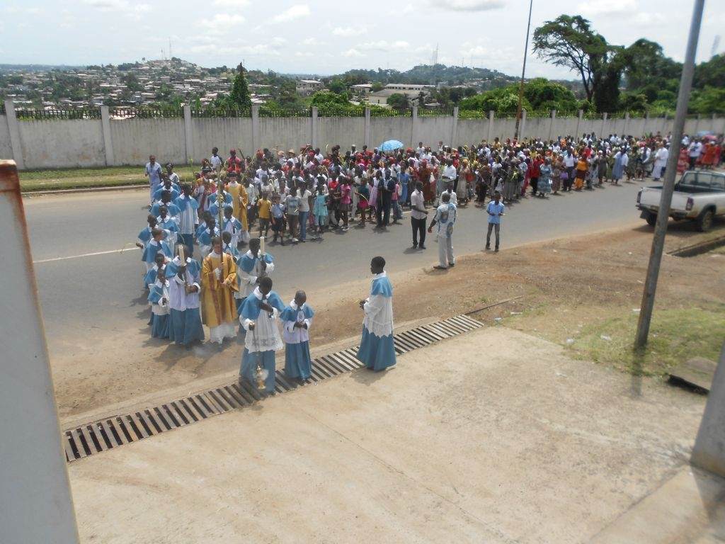Palm-Sonntag in Libreville